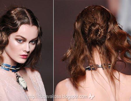 Романтично Updo - Christian Dior есен-зима 2011-2012
