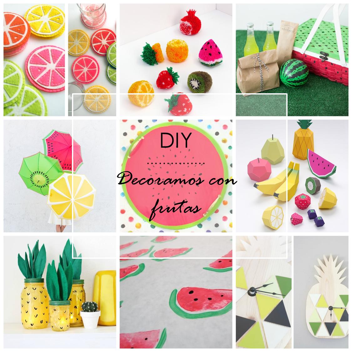 Decoraci n f cil 10 ideas para decorar con frutas este verano for Ideas para decorar