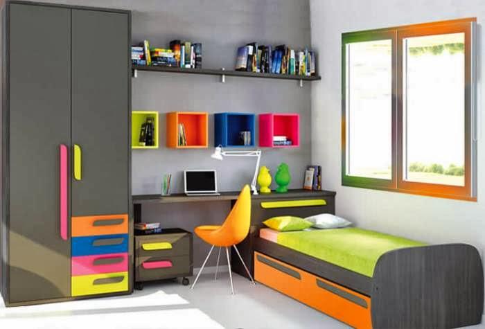 Dormitorio juvenil decoraci n de dormitorios con colores - Decoracion de habitaciones con fotos ...