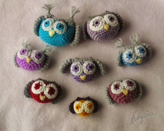 sówki amigurumi owl