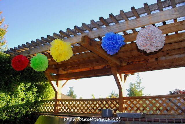 party decor, tissue paper balls