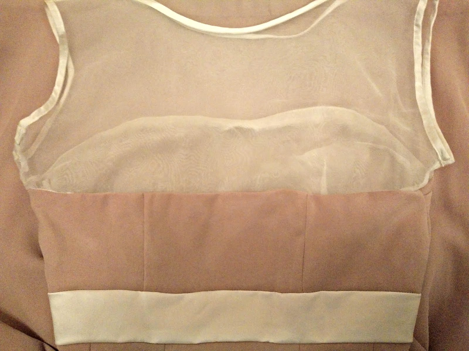 Macaron sheer yoke and lining