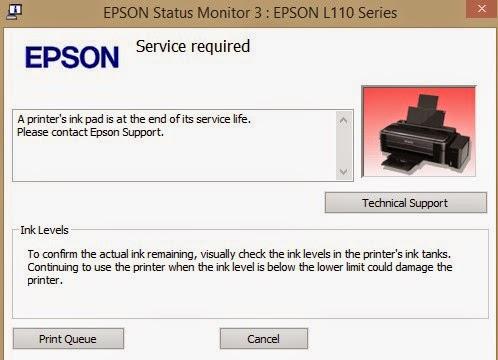 Cara Reset Epson L110, L210 L300, L350, L355 dengan Software