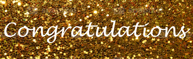 Congratulation glitter