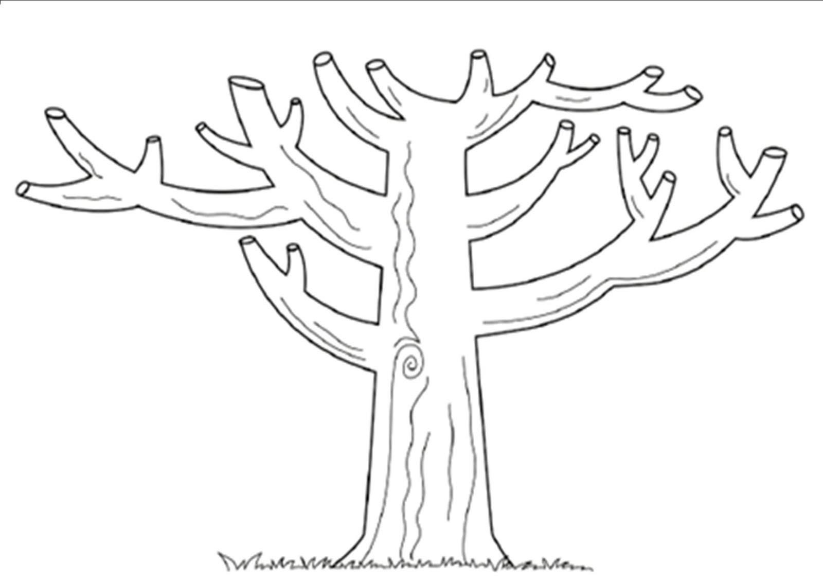Lujo árbol De Otoño Para Colorear Patrón - Dibujos Para Colorear En ...