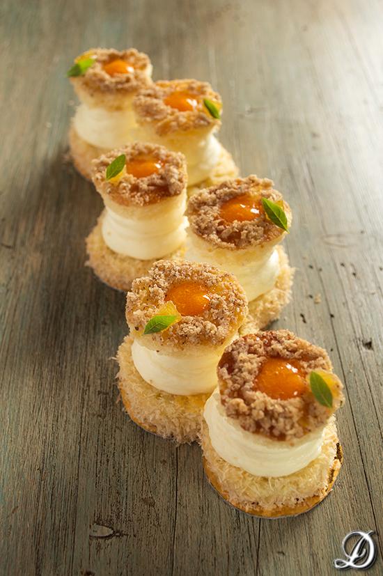 Brioche de Zanahoria y Naranja con Ganache de Chocolate Blanco, Ginebra y María Luisa