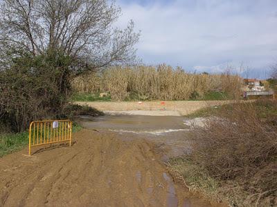 paso cortado por el río María de Huerva