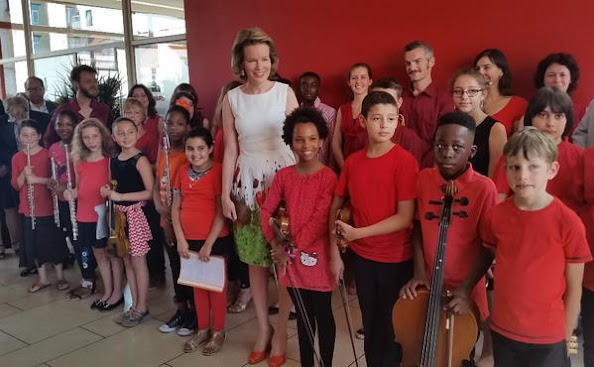 Queen Mathilde of Belgium attends ceremony of the Federal Poverty Reduction Prize to the OCMW-CPAS