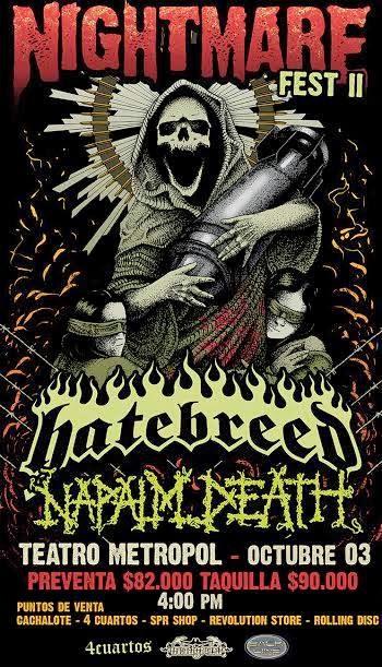 Nightmare Fest 2 HATEBREED & NAPALM DEATH