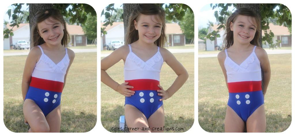 Little girl swimsuit bathing suit