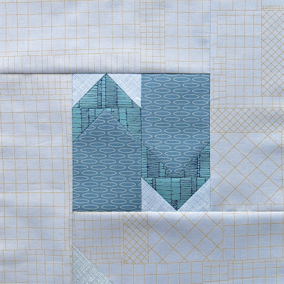 Modern sampler quilt - Block #11 - Inspired by Tula Pink City Sampler