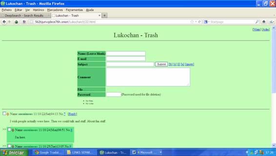 Dir : (link) http://dppmfxaacucguzpc.onion/ Um site que possui links. deepwebmais.comunidades.net.