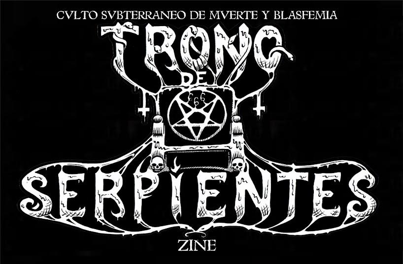TRONO DE SERPIENTES Zine: Culto Subterraneo de Muerte y Blasfemia
