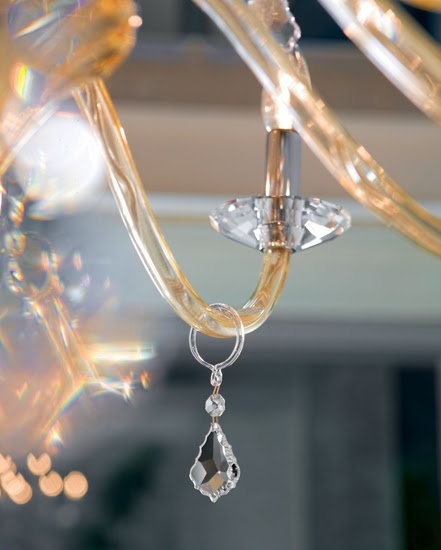 Topdomus Murano glass chandelier on sale
