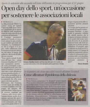 Corriere di Viterbo Vetralla 2° Open Day dello sport 2013