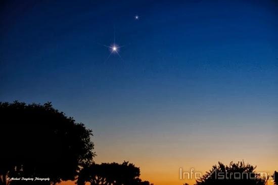 Foto: Konjungsi Venus dan Saturnus
