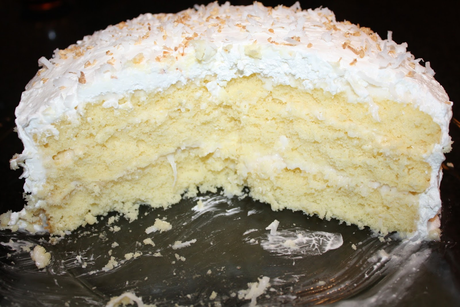 Coconut Sour Cream Layer Cake