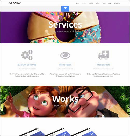 Myway – Onepage Bootstrap Parallax Retina Theme