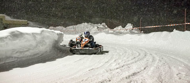 Ice karting at Tignes Le Lac