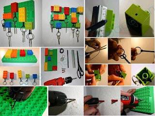 Idea de Porta Llaves con LEGO Reciclado