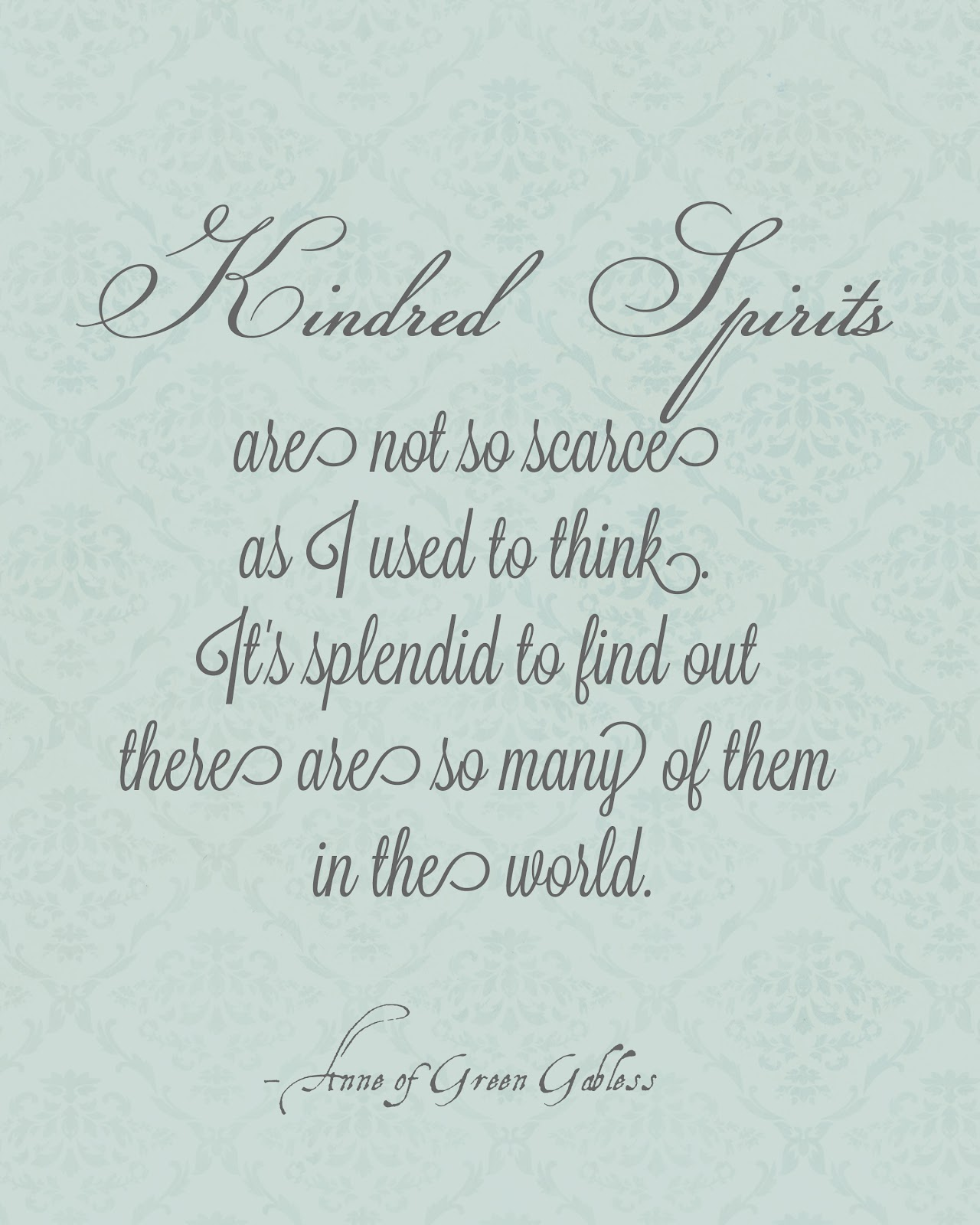Quotes From Anne Of Green Gables About Friendship : Quotes about kindred spirit anne green gables quotesgram