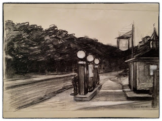 Sketch for Gas (1940), Edward Hopper, Whitney Museum 2013