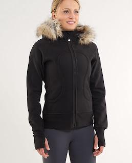 lululemon special edition fur scuba hoodie