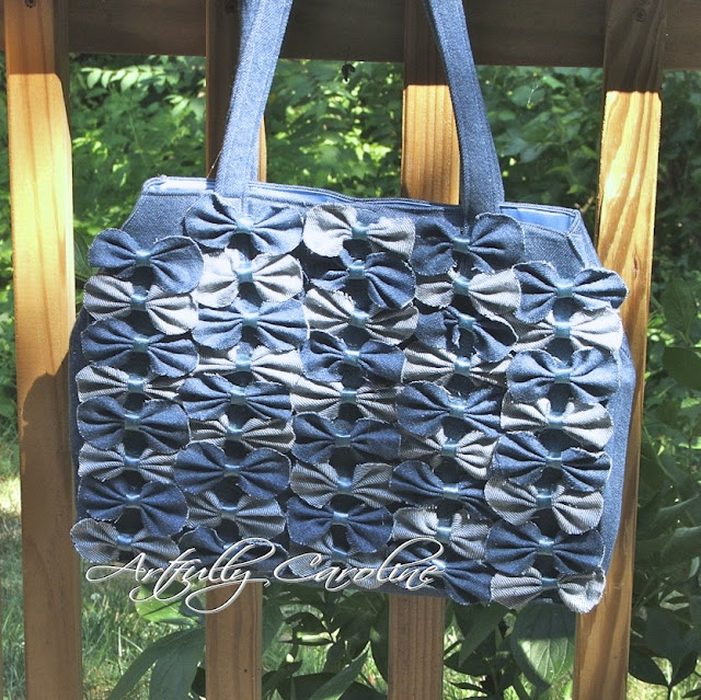 recycling ideas: denim farfalle bag tutorial