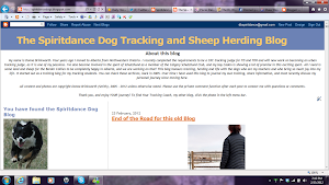The Spiritdance Tracking & Herding Blog - A Life's Journey 2005-2012