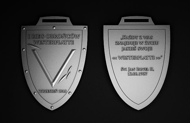 """Trójwymiarowy, ale jeszcze """"tylko projekt"""" medalu na  nasz Bieg"""