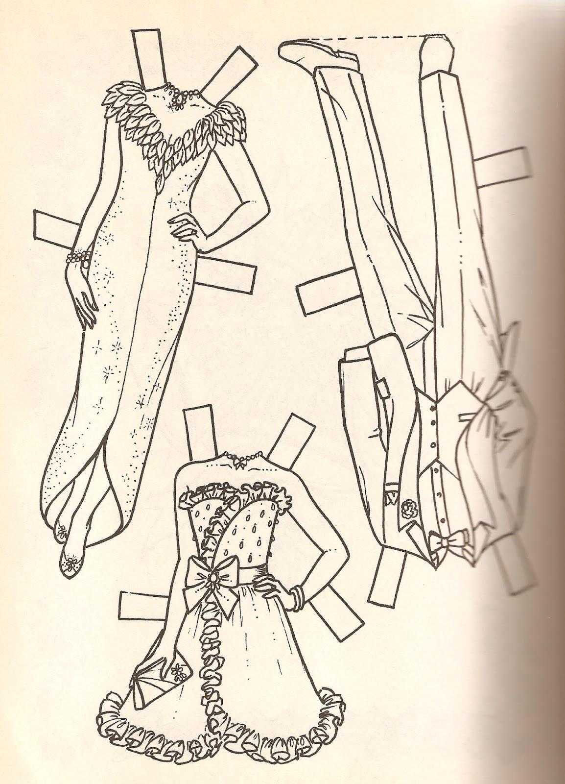 Miss Missy Paper Dolls Bride And Groom Paper Dolls