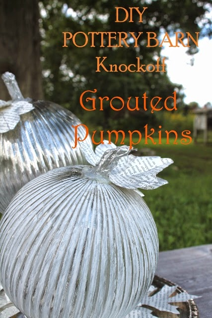 pottery barn knockoff grouted pumpkins, the altered past