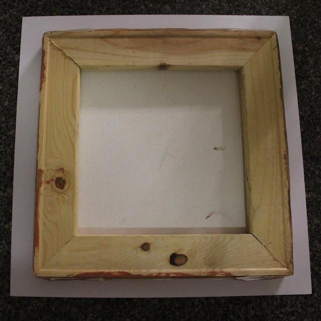 scrapbook paper, 10x10 canvas, modpodge,bathroom art