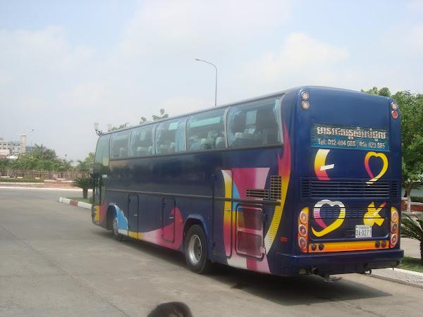 Autobus Vietnam a Camboya