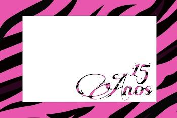Imprimibles 15 años Zebra Rosa.