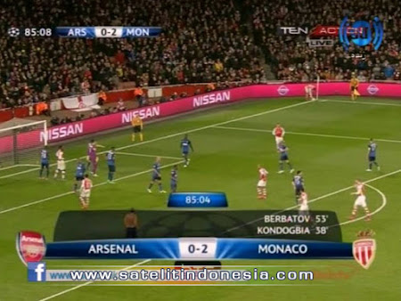 siaran langsung Arsenal vs Monaco