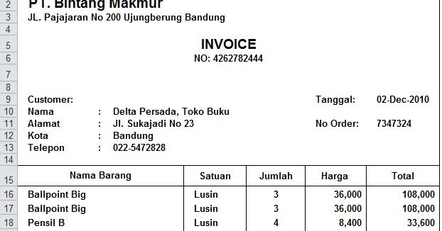 Contoh Nota Invoice Puasa 8