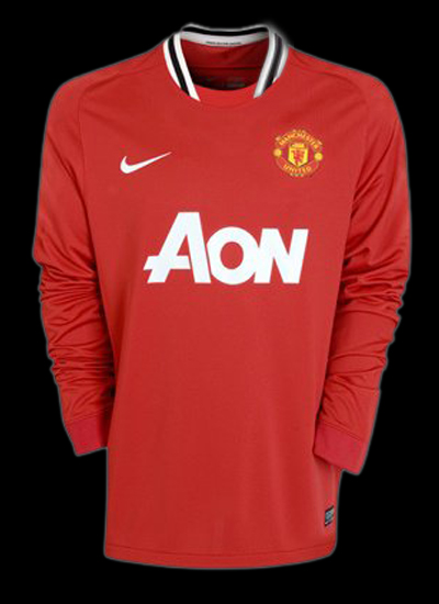 Manchester United New Jersey  Man Utd Home Jersey 2011/2012 Long Sleeved