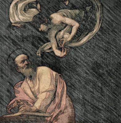 Dipinto di Caravaggio: San Matteo e l'angelo