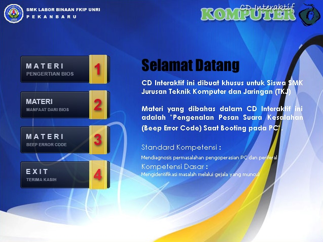 CD Interaktif Seri : Beep Error Code
