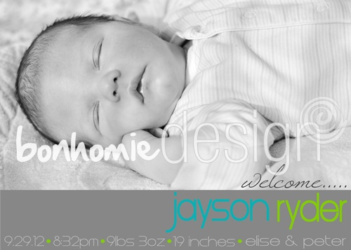 photo birth announcement by bonhomieDESIGN