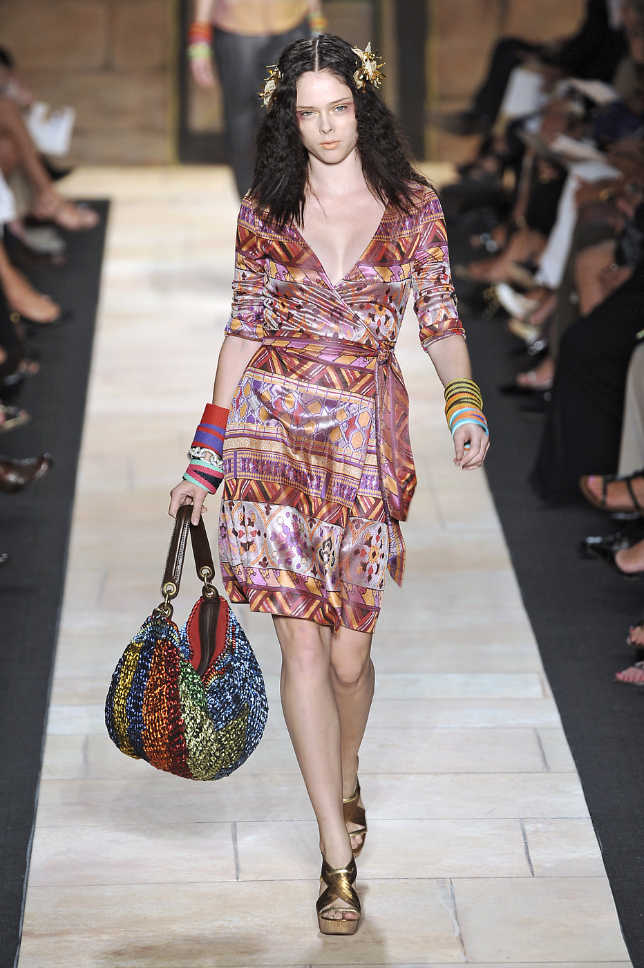 via fashioned by love | Diane von Furstenberg wrap-dress Spring/Summer 2010