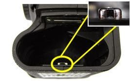 Fotografia del vano batteria della Canon EOS-1D X e EOS-1D C