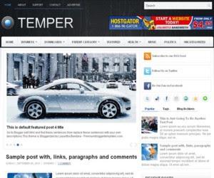 Temper Blogger Template