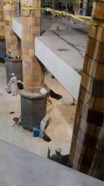 kren tumbang di masjid al haram