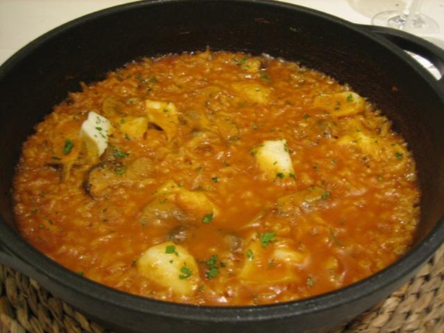 Arroces arroz meloso con bacalao - Arroz blanco con bacalao ...