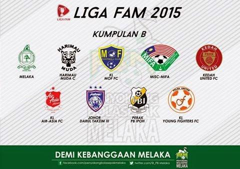 Senarai Pasukan Liga FAM 2015 kumpulan b