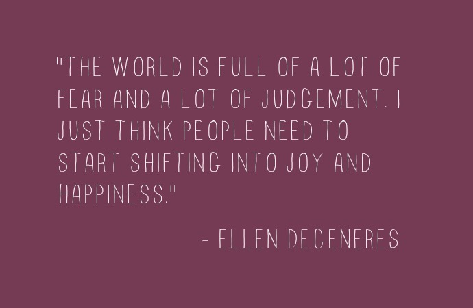 Getting Unstuck. A little reminder to make the shift to Happiness from #Ellen