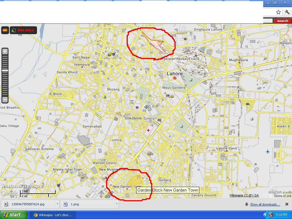 Lahore Map Kohat Online - Kohat map