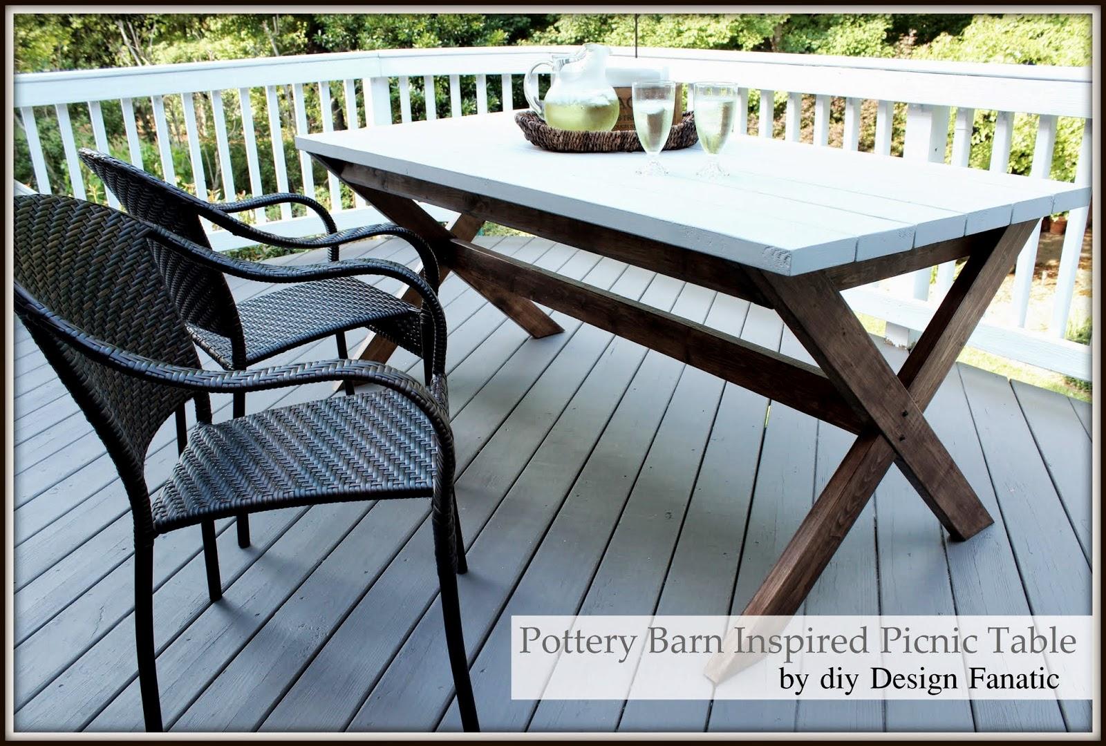 Simple picnic table Kreg jig Behr deck stain